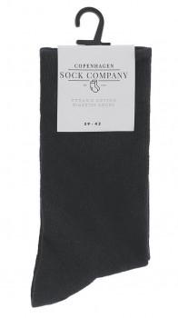 Sorte CSC komfort- og diabetes strømper, bomuld - Str. 51-54