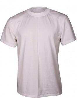 Hvid Dovre T-Shirt Med Rund Hals - Str. Medium