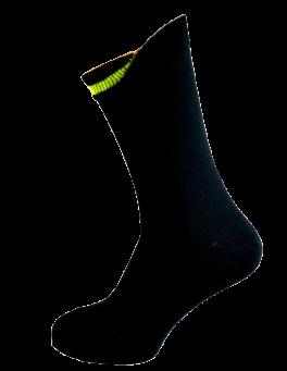 Sorte Sokker Med Indvendig Grøn Markering