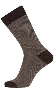 Brune Egtved Twin Sock Uldsokker