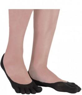 Silke Footies Tåsokker, ToeToe Silk Foot Cover Sort