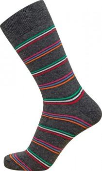 Grå JBS sokker med flerfarvede striber