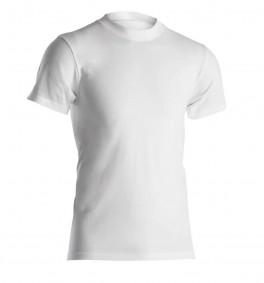 Hvid Dovre t-shirt med rund hals