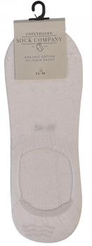 CSC- Footies med silikone hæl - Hvid bomuld