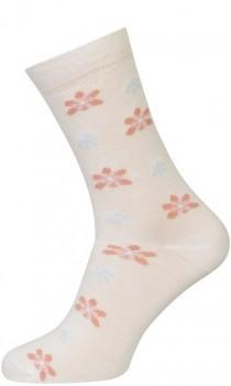 Hvide Strømper Med Blomster