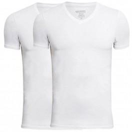 JBS Bambus T-Shirts 2-Pak Hvid V Hals Str. 3XL
