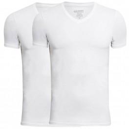 JBS Bambus T-Shirts 2-Pak Hvid V Hals