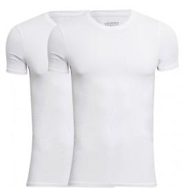 JBS Bambus T-Shirts 2-Pak Hvid Rund Hals Str. Large