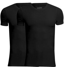 JBS Bambus T-Shirts 2-Pak Rund Hals - Sort, Str. Large