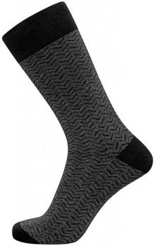 Mørkegrå JBS strømper med zig-zag striber