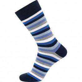 JBS sokker med blå og hvide striber