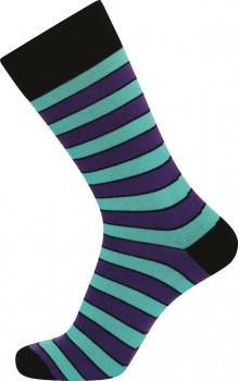 JBS sokker med lilla striber