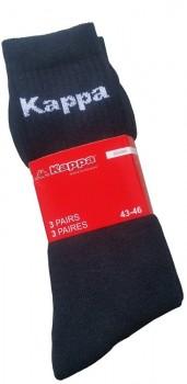 Kappa Tennissokker Sort - 3-Pak