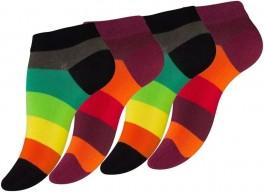 Ankelstrømper Damer 4-pak Rainbow - Str. 39-42