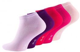 5-Pak Sneaker Socks (Korte Strømper) Rosamix - Str. 39-42