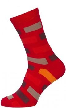 Røde Strømper med tern Str. 51-54