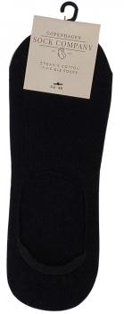 CSC- Footies med silikone hæl - Sort bomuld