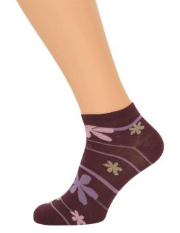 Ankelsokker Med Striber (Korte Sokker)