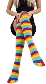 ToeToe Over Knee Knæsokker Adskilte Tæer Rainbow