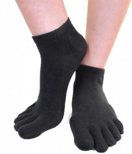 Ankel Tåsokker, ToeToe Essential Anklet Sort Str. 35-46