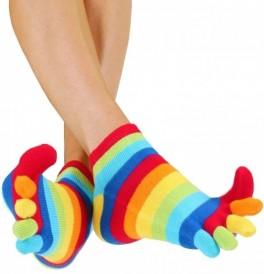 ToeToe Essential Anklet Tåsokker Rainbow
