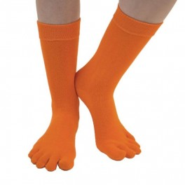 Orange ToeToe Essential Mid-Calf Tåsokker