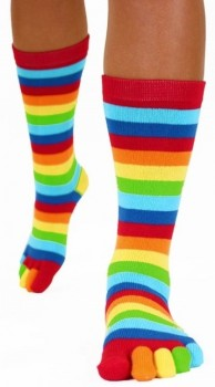 Tåsokker, ToeToe Essential Mid-Calf Rainbow