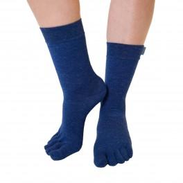 ToeToe Uldsokker Med Adskilte Tæer - Blå