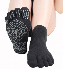 ToeToe Anti-Slip Yoga & Pilates Ankel-Tåsokker Sort