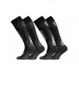 2-pak Stark Soul Ski Sokker - Blå, grå str. 39-42