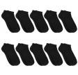 10 Par Sorte Ankelsokker (Korte Sokker) Bomuld - Socks CPH