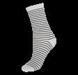 Socks CPH- Damestrømper Hvid-glitter med sorte striber