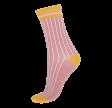Socks CPH- Damestrømpe- Riflet Rosa