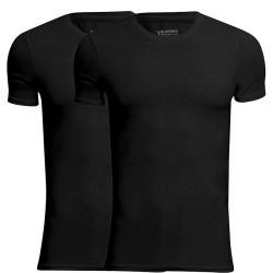 JBS Bambus T-Shirts 2-Pak Sort - Rund Hals