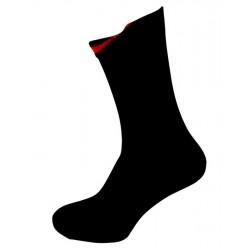 Sorte Sokker Med Indvendig Rød Markering